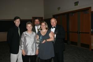Back Row Left to Right: Mark Hughes, Mike Cuadra, Rich Gaspar  Front Row: Cathy Gaspar, Sarah Henry